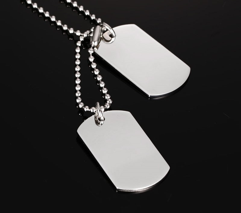Classic Stainless Steel Dog Tag Necklace - Order Today!
