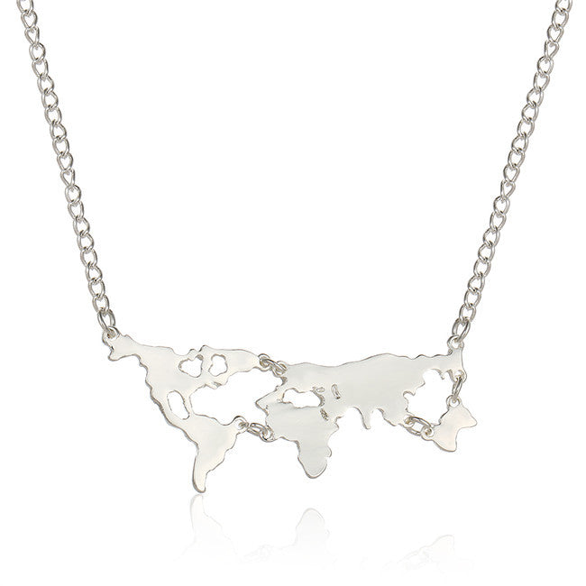 World Map Necklace - Order Today!