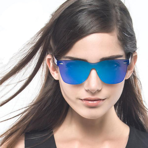 Unique Style Rimless Sunglasses with Flat Lens - Order Today!