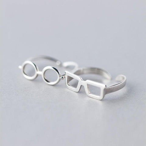 Geometric Silver Sunglasses Ring for Women - Order Today!