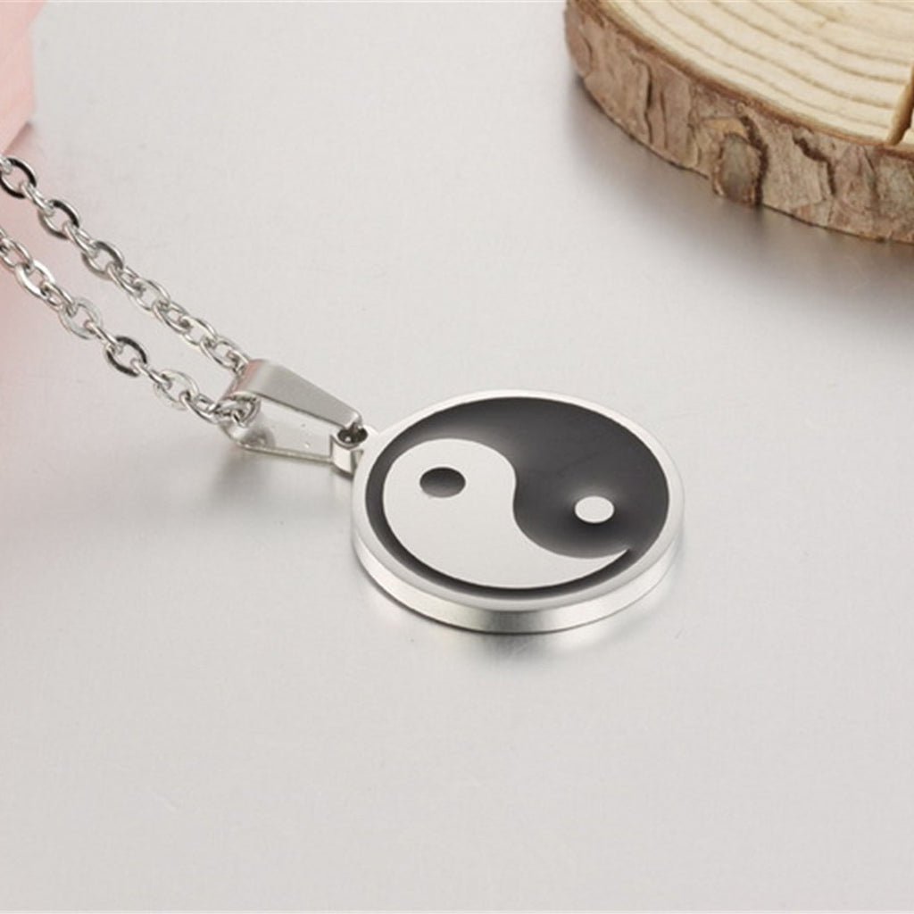 Cool Stainless Steel Necklace for Men - Yin Yang - Order Today!