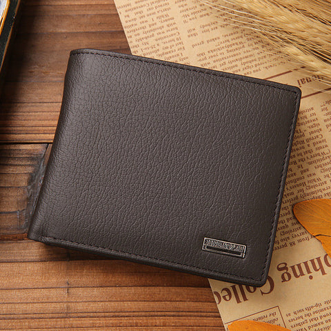New Men's Genuine Leather Wallet - Order Today!