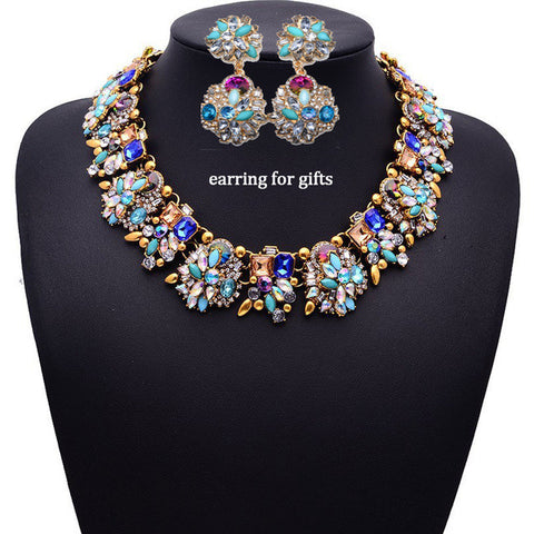 New Luxurious Gem Crystal Jewelry Set - Order Today!
