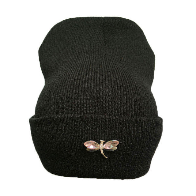 Dragonfly Crystal Beanie - Order Today!