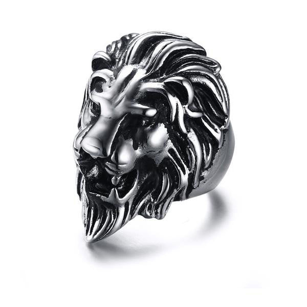 Stainless Steel Lion Ring for Men - Order Today!