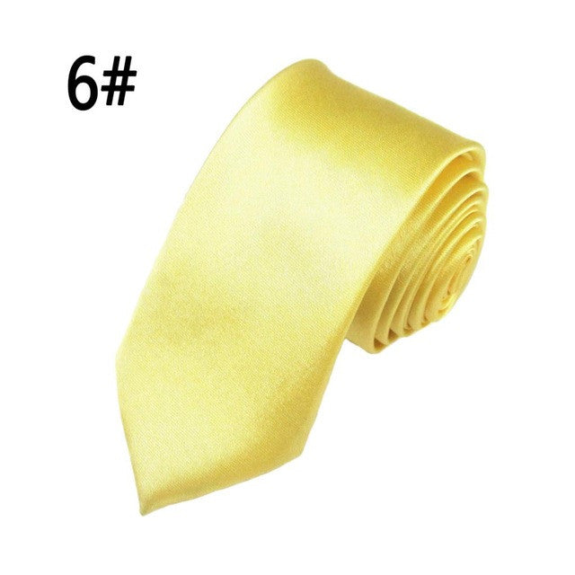 Simple Plain Polyester Necktie - Order Today!