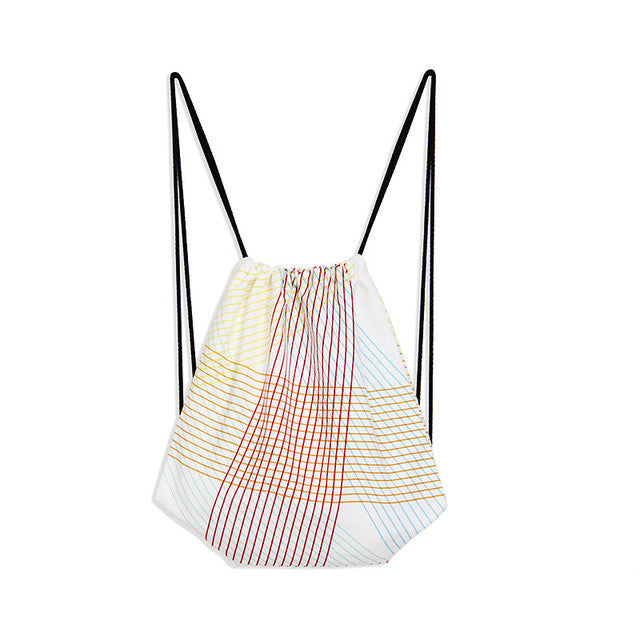 Geometric Drawstring Bag - Order Today!
