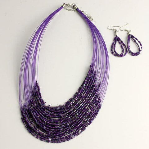 Stylish Multi-Layer Resin Beads Jewelry Set - Order Today!