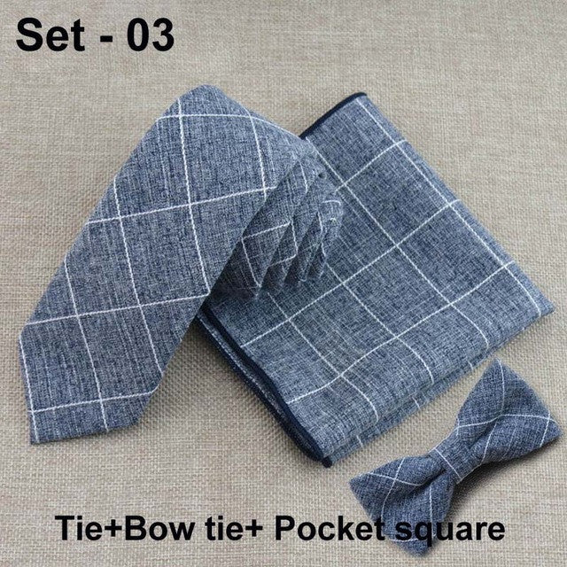 Classic Plaid Tie and Handkerchief Set - Order Today!