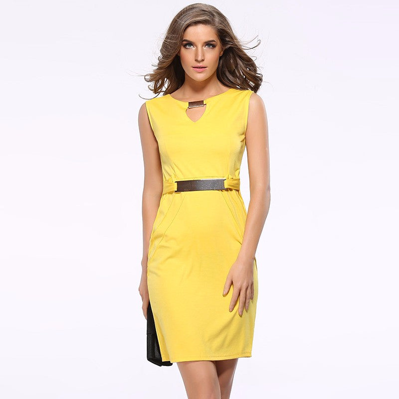 New Casual Sleeveless Pencil Dress - Order Today!