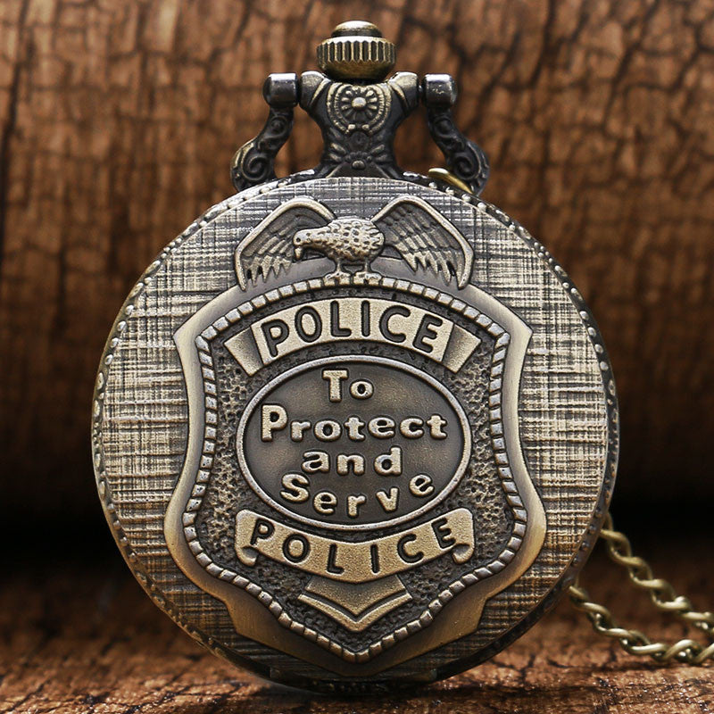 Retro Police Pendant Pocket Watch - Order Today!
