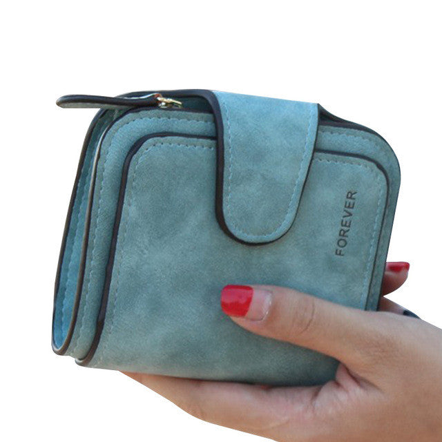 Short Clutch Vintage Matte Leather Wallet - Order Today!