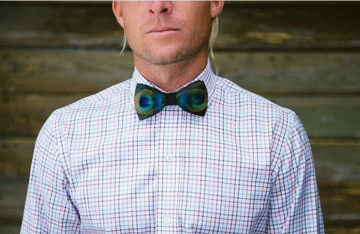 Novelty Men's Bow Tie - Peacock Feather - Order Today!