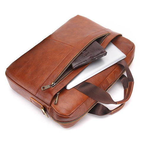 "14"" Genuine Leather Laptop Case - Order Today!"