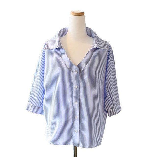 Loose Sheer Striped Blouse - Order Today!