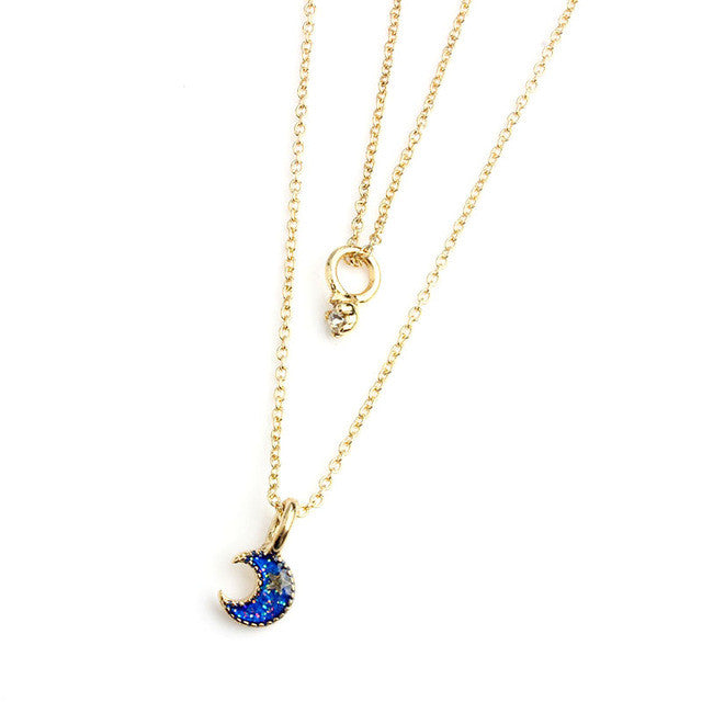 Chain Moon Star Pendant - Order Today!