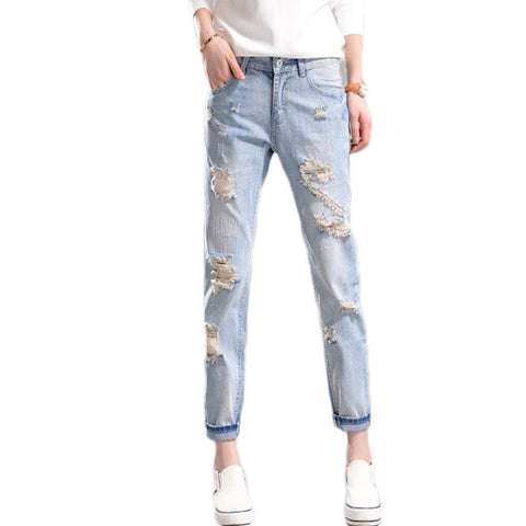 Casual Boyfriend Ripped Jeans - Order Today!