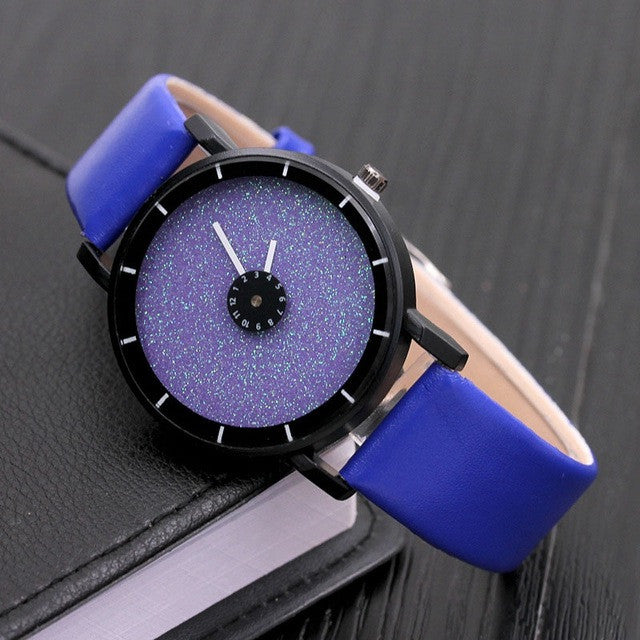 Stars Quartz Wrist Watch Leather Style - Order Today!