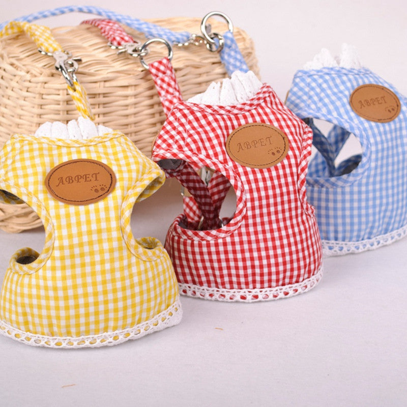 Plaid Pet Harness - Order Today!