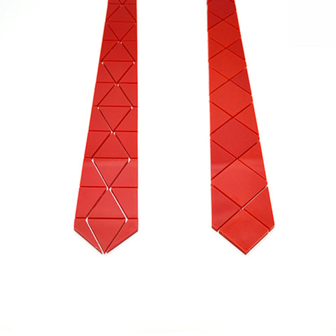 Handmade World Wide Necktie - Diamond Plaid Shinning Red - Order Today!