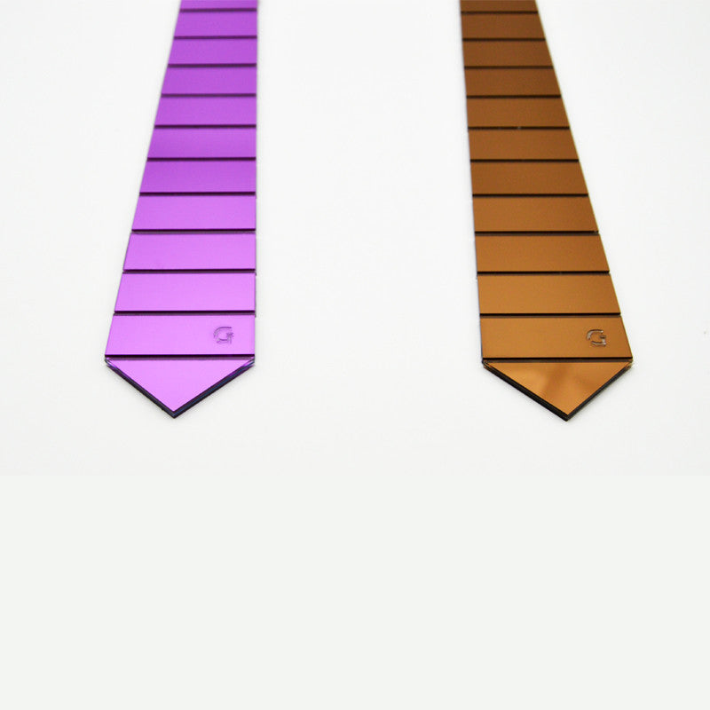 Handmade World Wide Necktie -  Mirror Stripe - Order Today!