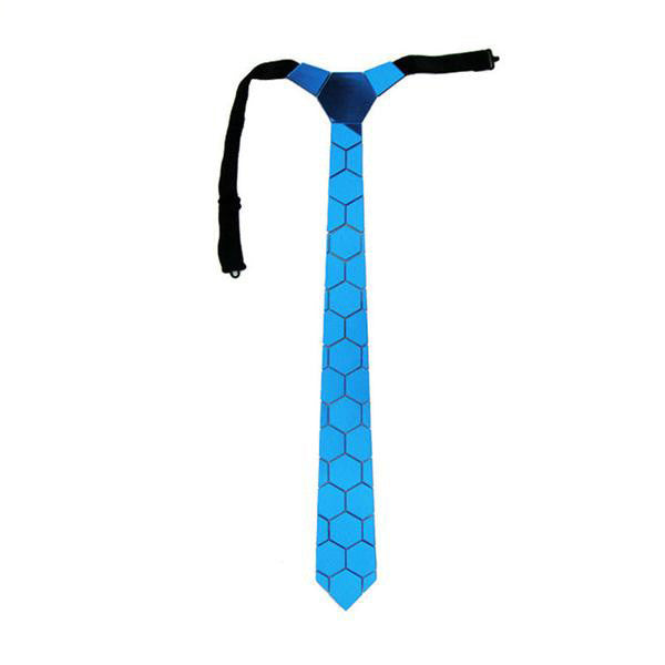 Handmade World Wide Necktie -  Ocean Blue Mirror