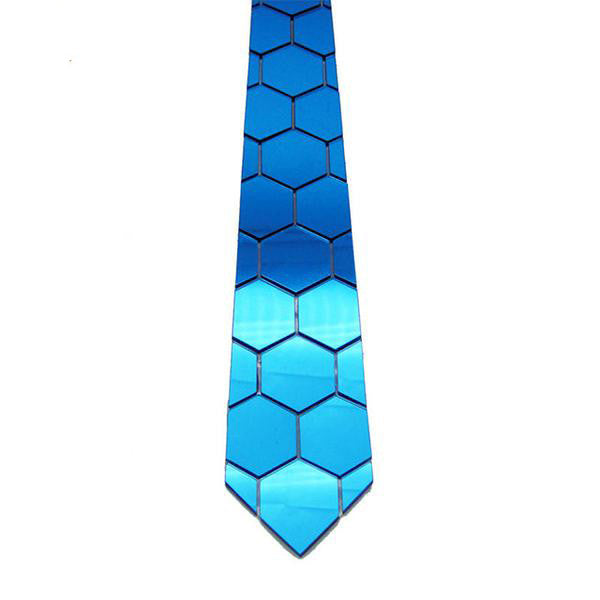 Handmade World Wide Necktie -  Ocean Blue Mirror - Order Today!