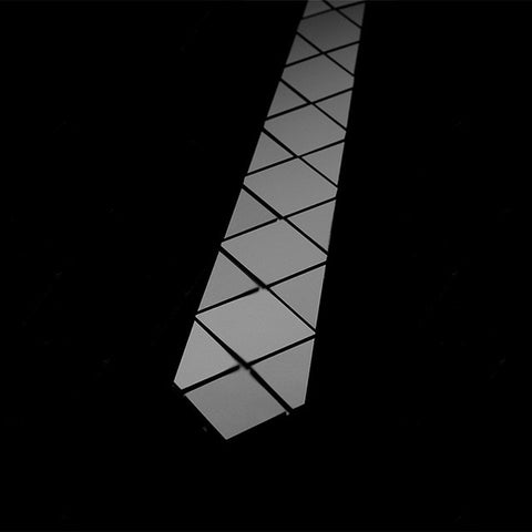 Handmade World Wide Necktie - Diamond Rhomb Black Matt - Order Today!
