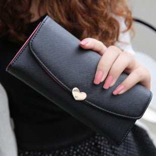 Heart Lock Leather Wallet - Order Today!