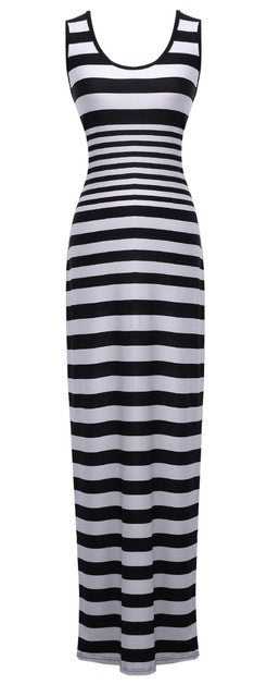 Sleeveless Striped Maxi Dress - Order Today!