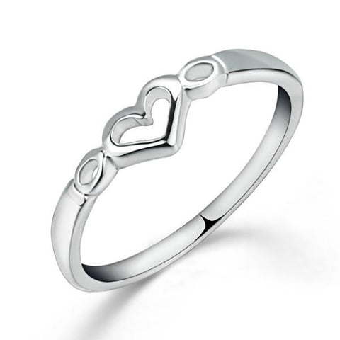 Simple Silver Heart Ring - Order Today!