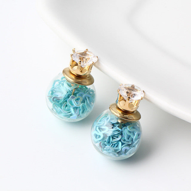 Stunning Glass Ball Stud Earrings - Order Today!
