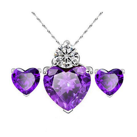 New Heart Cubic Zircon Jewelry Set - Order Today!