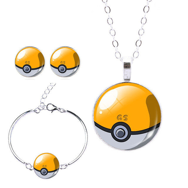 New Pokeball Glass Jewelry Set - Order Today!