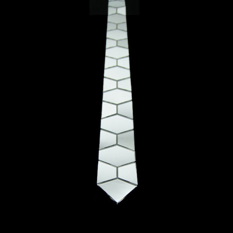 Handmade Luxurious Silver Honeycomb Shape Necktie - Order Today!