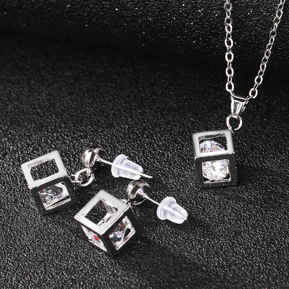 Stylish Cube Jewelry Set - Order Today!