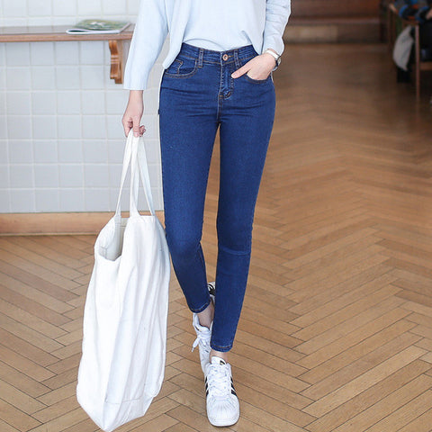 Mid Waist Skinny Jeans - Order Today!