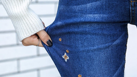 Designed Embroidery Jeans - Order Today!
