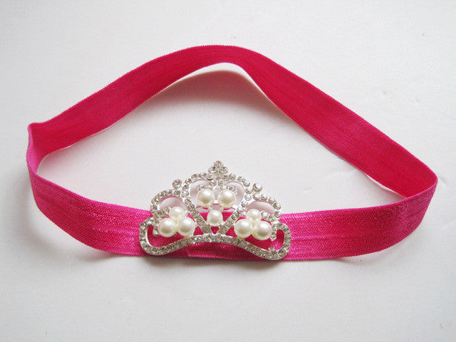 Girl's Pearl Crown Headband - Order Today!