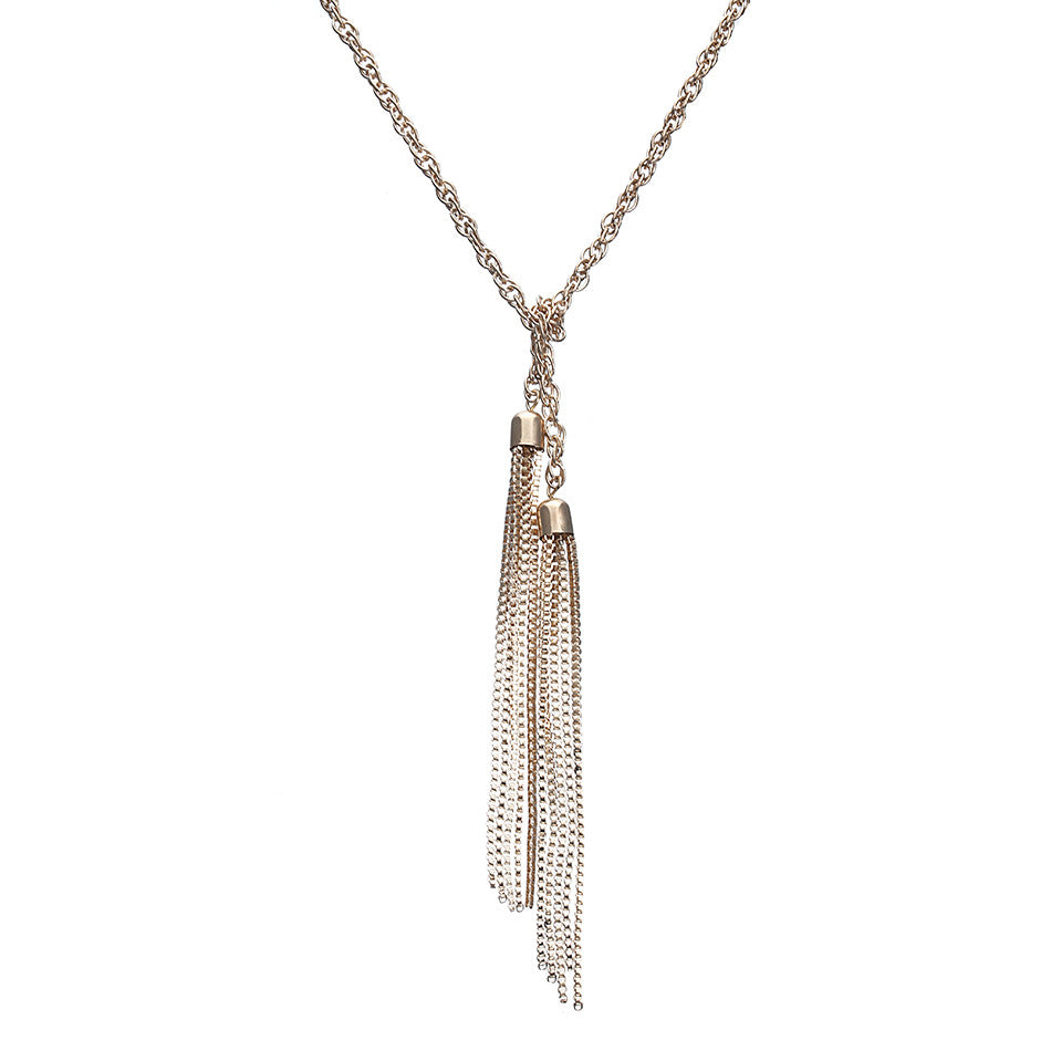 Luxurious Double Tassel Necklace - Order Today!