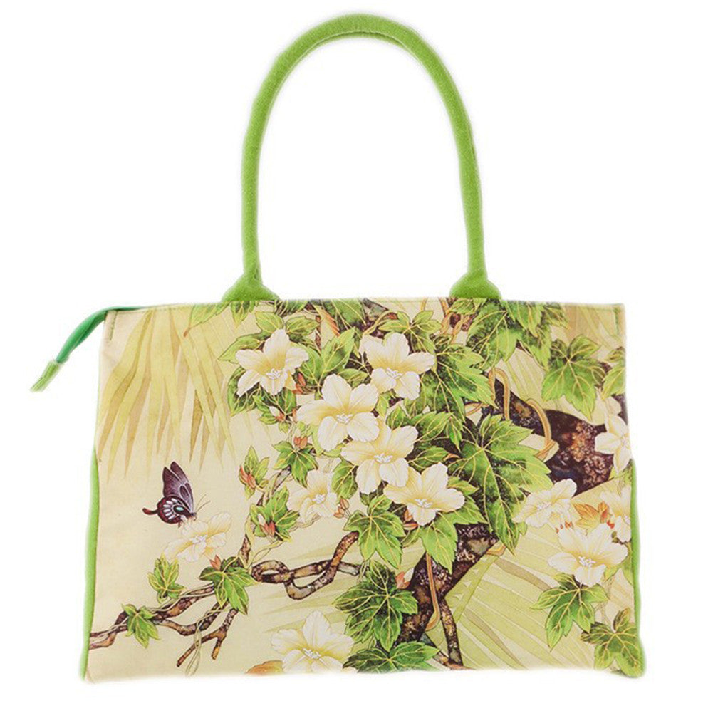 Floral Canvas Shoulder Bag - Order Today!