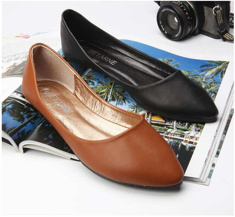 Genuine Leather Flat Shoes - Order Today!