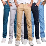 Casual Cotton Straight Trousers for Men