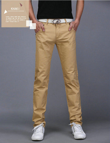 Casual Cotton Straight Trousers for Men - Order Today!