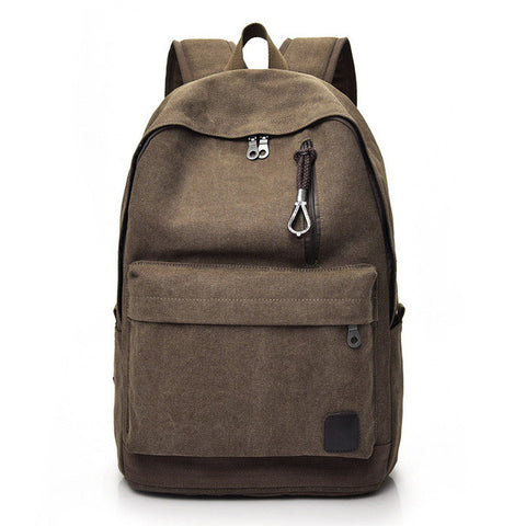 Men's Solid Color Canvas Backpack - Order Today!