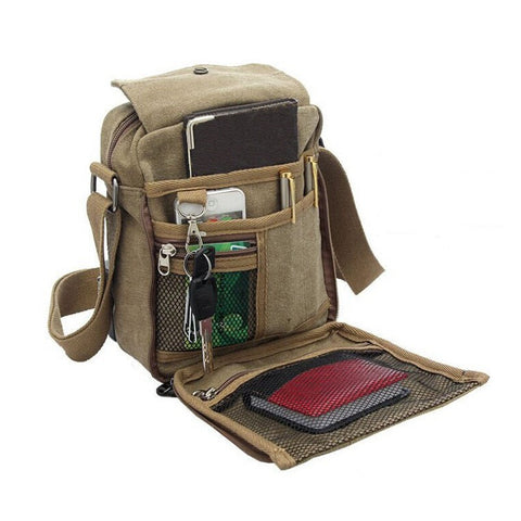 Men's Multi Function Canvas Messenger Bag - Order Today!