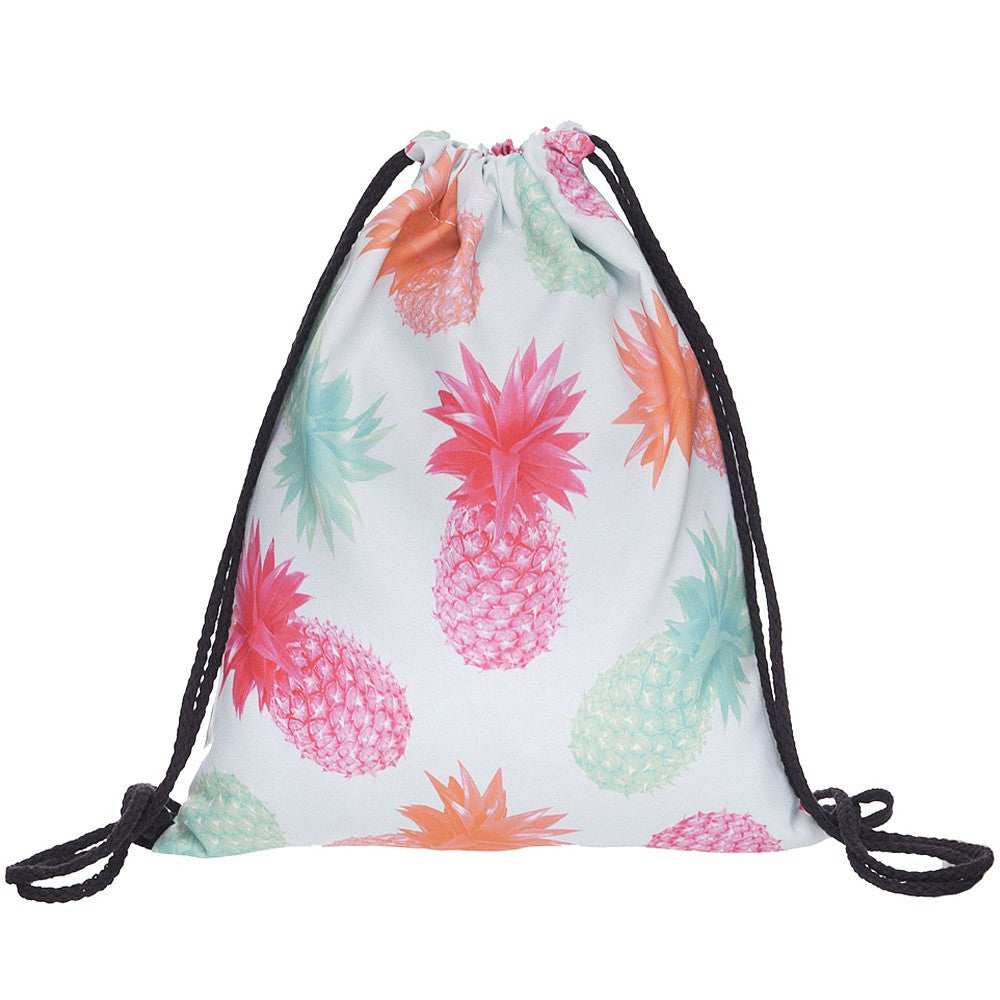 Pineapple Printed Drawstring Bag - Order Today!