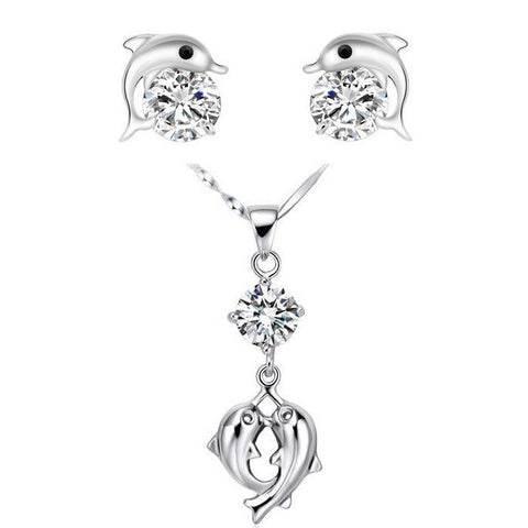 Cubic Zirconia Dolphin Jewelry Set - Order Today!