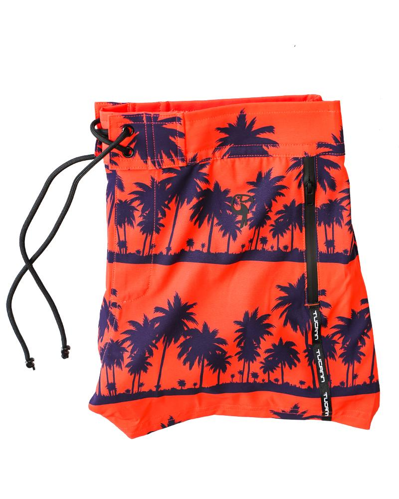 Black Palm Orange Swim Shorts Shorts / Board shorts Tucann