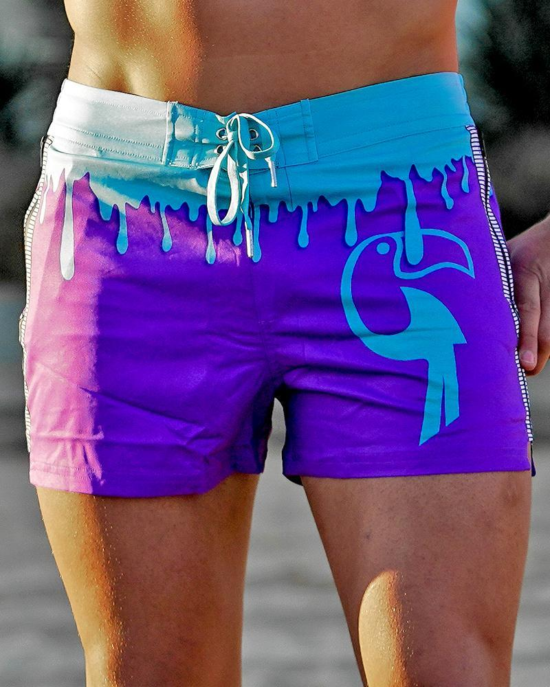 Drip Series Swim Shorts - Blue Drip Shorts / Board shorts Tucann S
